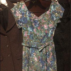 Very very rare 1950'ssuper super mint floral dress